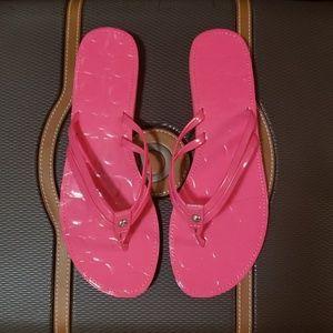 e5418f30b8a06 Women s Pink Coach Flip Flops on Poshmark